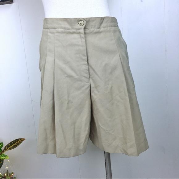 Vintage Pants - Vintage 90s Pleated Khaki Shorts
